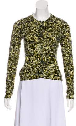 Diane von Furstenberg Ibiza Concealed Printed Cardigan