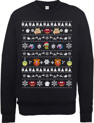 679c263145 at Zavvi · Disney The Muppets Muppets Christmas Heads Black Christmas  Sweatshirt