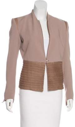 Helmut Lang Leather-Paneled Structured Jacket