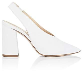 Barneys New York Women's Leather Slingback Pumps - White