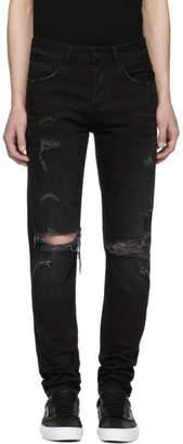 Marcelo Burlon County of Milan Black Wing Slim Jeans