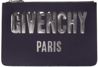 Givenchy Navy Medium Logo Pouch