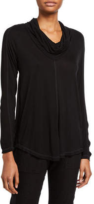XCVI Madelina Cowl Neck Long-Sleeve Jersey Top