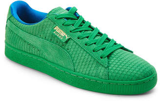 Puma Green & Gold Suede Classic Archive Low Top Sneakers
