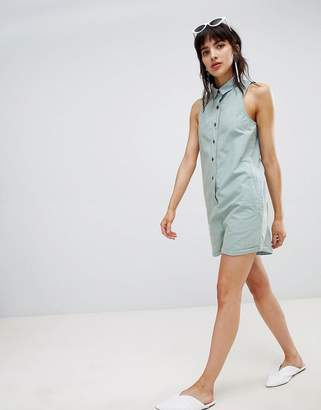 Asos DESIGN washed boiler romper
