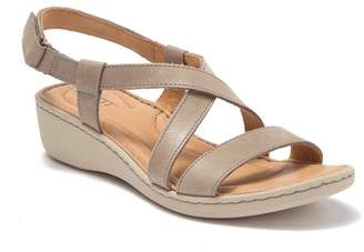 Børn Idella Leather Wedge Sandal