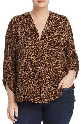 Bobeau B Collection by Curvy Cristy Cheetah-Print Top