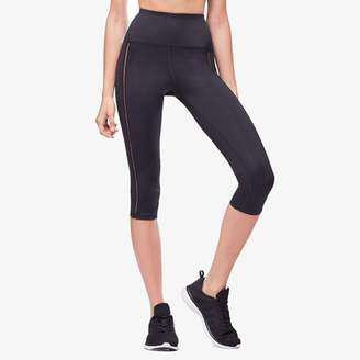 Good American Mixed Mesh High Waisted Crop Leggings - Women's