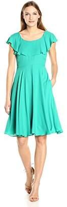 Nanette Lepore Nanette Women's Flutter Sleeve Chiffon Dress