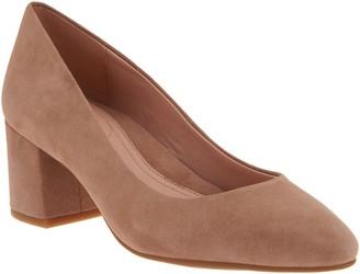 Taryn Rose Leather or Suede Block Heel Pumps - Rochelle