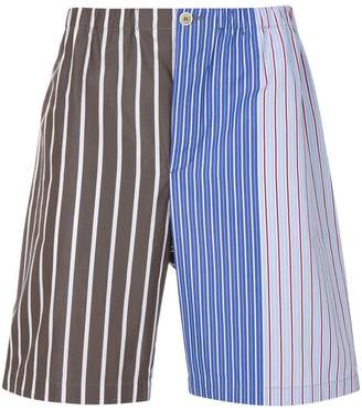 Marni striped panel shorts