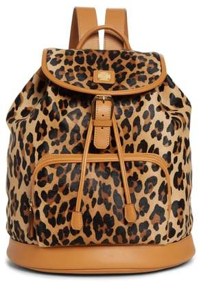 MCM Medium Leopard Backpack