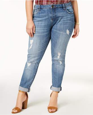 KUT from the Kloth Plus Size Katy Distressed Boyfriend Jeans