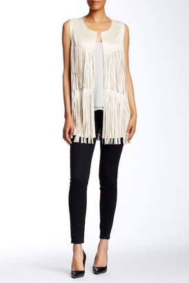 Insight Faux Suede Fringe Vest