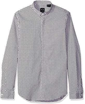Armani Exchange A|X Men's Long Sleeve Printed Aramni Shirt