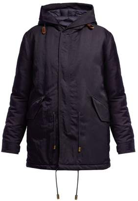 Mr & Mrs Italy Hooded Padded Parka Coat - Womens - Navy