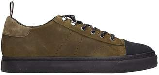 Low Brand Green Nabuk Sneakers