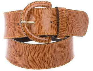 Barneys New York Barney's New York Lizard Waist Belt