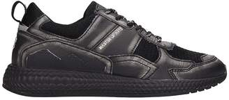 M.O.A. Master Of Arts M.O.A. master of arts Black Leather And Fabric Running Sneakers