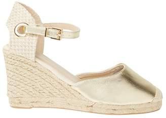 Dorothy Perkins Gold Raven Espadrille Wedge Sandals