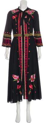 Temperley London Embroidered Evening Dress