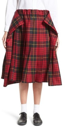 Women's Comme Des Garcons Tartan Check Wool Skirt $1,970 thestylecure.com