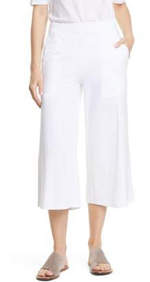Eileen Fisher Organic Cotton Straight Leg Crop Pants