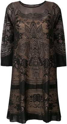 Alberta Ferretti patterned sweater dress