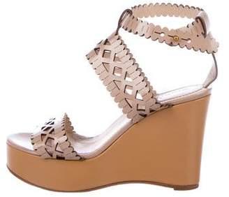 Chloé Laser-Cut Ankle-Strap Sandals