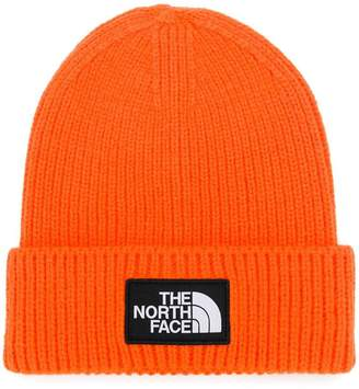 The North Face logo patch ribbed beanie