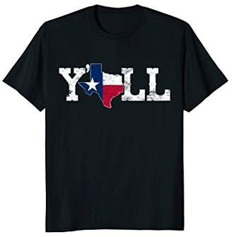Texas T-shirt Texas Shaped Flag Grunge Distressed Texas Tee