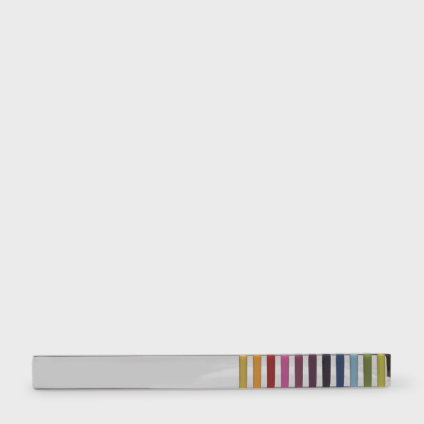 Paul Smith Men's Vivid Multi-Stripe Tie Clip