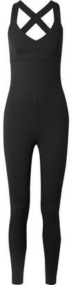 NO KA 'OI NO KA'OI - Laiki Waffle-knit Stretch-jersey Bodysuit - Black