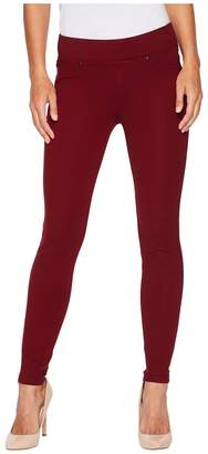 Liverpool Piper Hugger Pull-On Leggings in Silky Soft Ponte Knit with Lift and Shape Qualities in Wine Women's Jeans