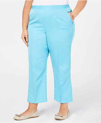 7a0b037f7ef Alfred Dunner Plus Size Butterfly Effect Pull-On Pants