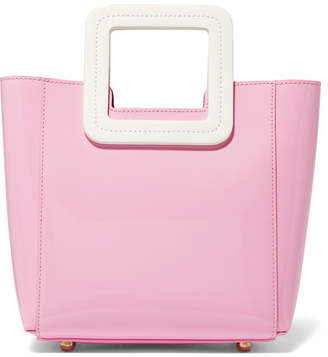 STAUD - Shirley Mini Patent-leather Tote - Pink