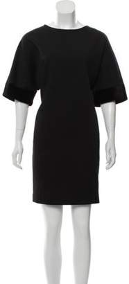 Stella McCartney Short Sleeve Mini Dress Black Short Sleeve Mini Dress