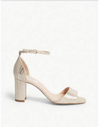 LK Bennett Helena snake-embossed leather sandals