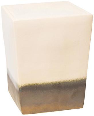 Tacitus Square Cube Stool - Cream - Seasonal Living