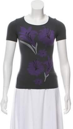 Giorgio Armani Floral Pattern T-Shirt