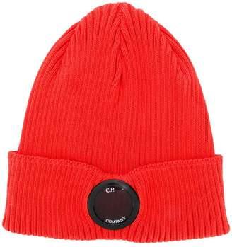 C.P. Company logo button beanie hat