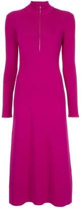 Sykes half zip knitted dress