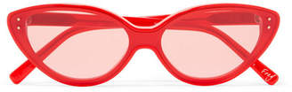 Elizabeth and James Frey Cat-eye Acetate Sunglasses - Red