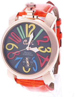 イタリコ ITALICO 【専用ケース付き】トップリューズ式ビッグフェイス腕時計 マルチカラー47mm