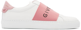 Givenchy White and Pink Elastic Urban Street Sneakers