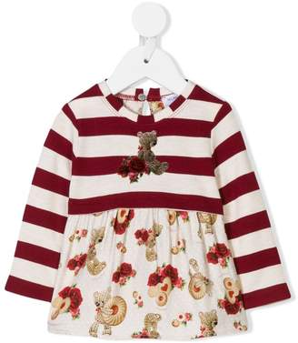 MonnaLisa striped bears longsleeved T-shirt