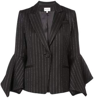 Milly pinstripe fitted blazer