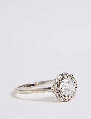 Marks and Spencer Platinum Plated Round Stone Ring