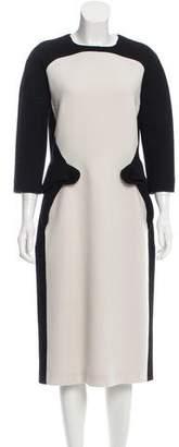 Bottega Veneta Colorblock Wool Dress