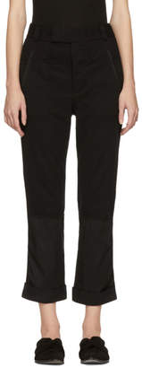Haider Ackermann Black Jersey Trousers